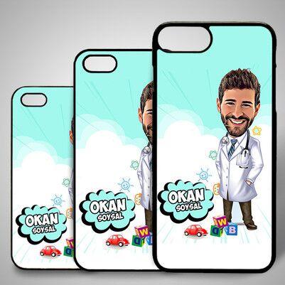 - Erkek Doktor Karikatürlü Iphone Kapak