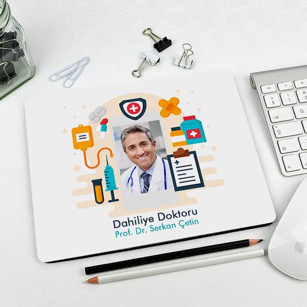 Erkek Doktorlara Özel Resimli Mousepad