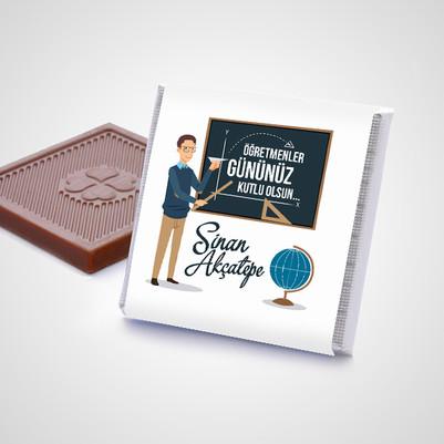 Erkek Öğretmene Hediye Çikolata Kutusu - Thumbnail