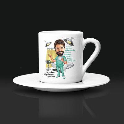 - Erkek Sağlıkçılara Özel Karikatürlü Kahve Fincanı