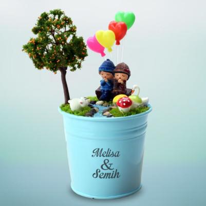 - Erkek Sevgiliye Hediye Doğum Günü Minyatür Bahçe