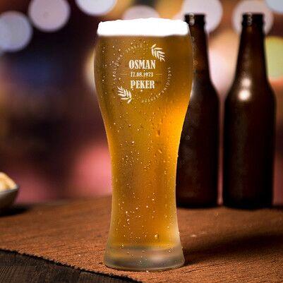 - Erkek Sevgiliye Hediye Uzun Bira Bardağı