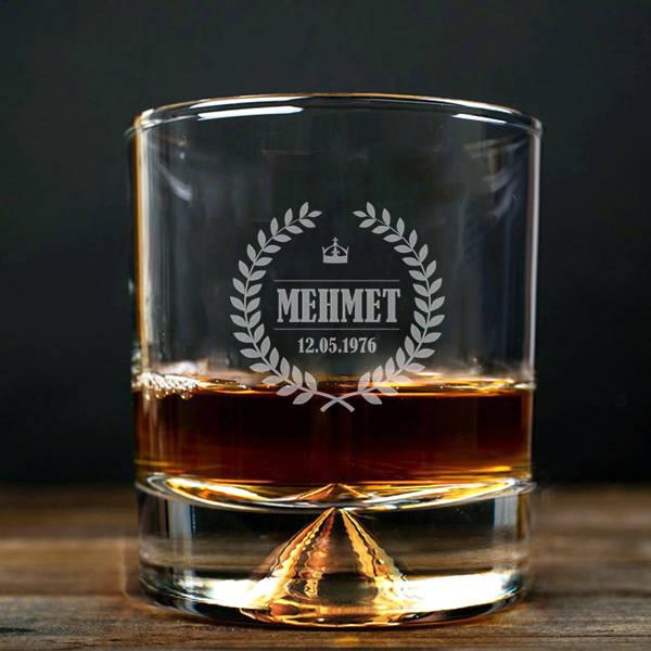 Erkeklere İsimli Hediyelik Viski Bardağı