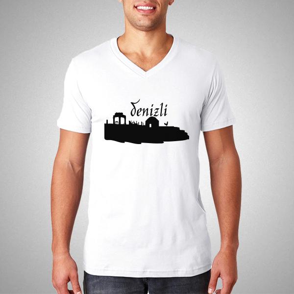 Erkeklere Özel Denizli Silueti Tişört