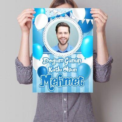 - Erkeklere Özel Doğum Günü Posteri
