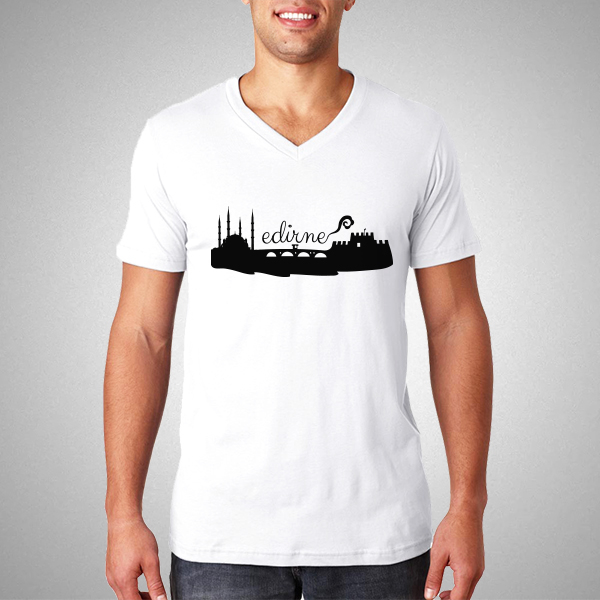Erkeklere Özel Edirne Basklı Tişört