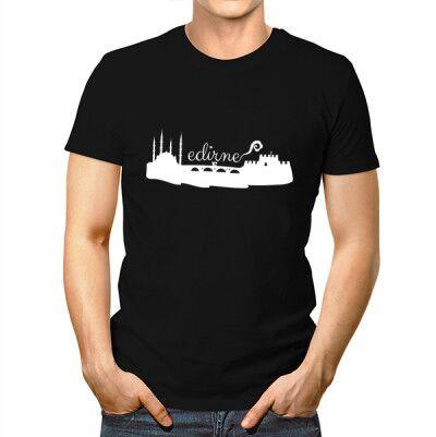 Erkeklere Özel Edirne Basklı Tişört - Thumbnail