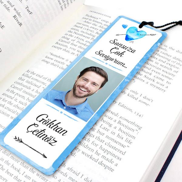 Erkeklere Özel Fotoğraflı Kitap Okuma Ayracı