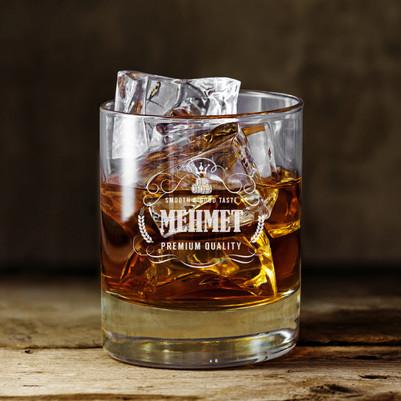 - Erkeklere Özel İsimli Viski Bardağı