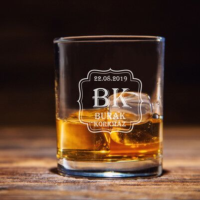 - Erkeklere Özel Viski Bardağı