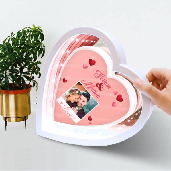 Eşe Hediye Kalpli Sihirli Ayna