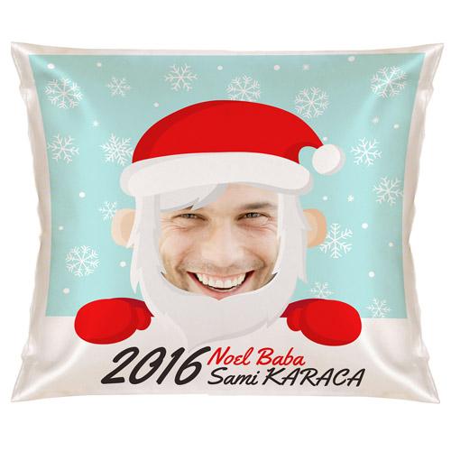 Esprili Noel Baba Yılbaşı Yastık