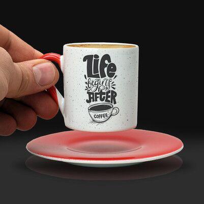 Estetik Tasarımlı Kahve Fincanı - Thumbnail