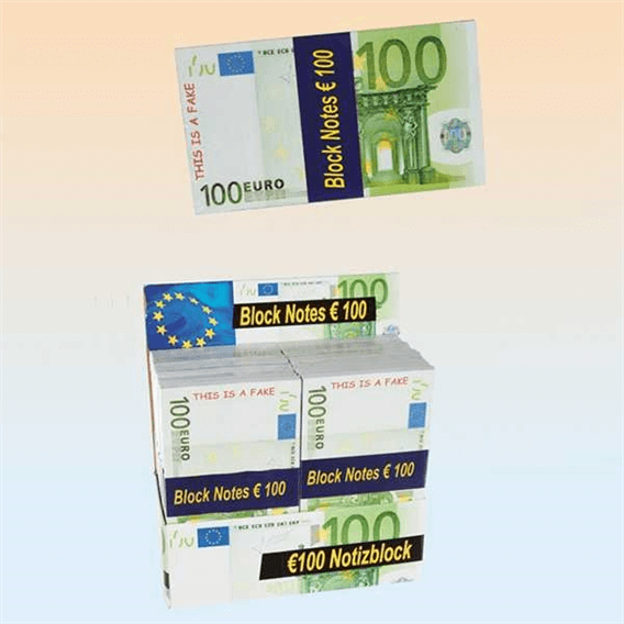 Euro Notepad - 100 Euro Not Defteri