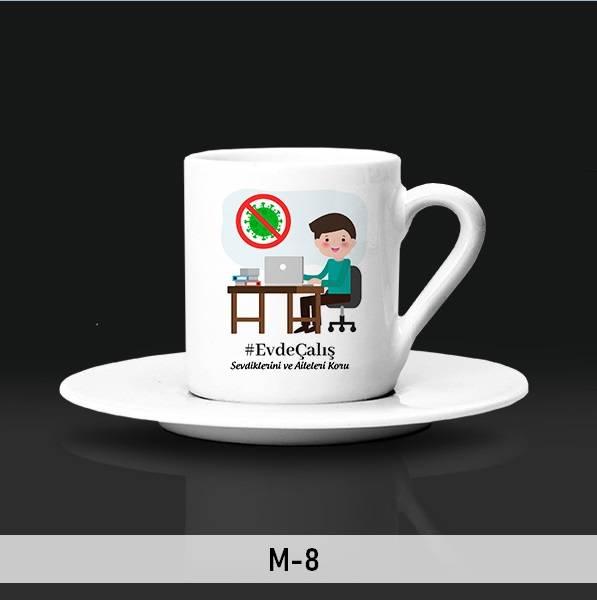 EvdeKal Tasarımlı Kahve Fincanları