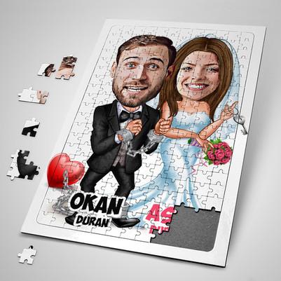 - Evlendik Ayvayı Yedik Karikatürlü Puzzle