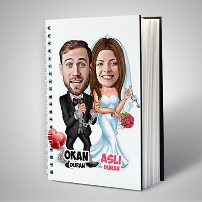 Evlendik Ayvayı Yedik Karikatürlü Sevgili Defteri - Thumbnail