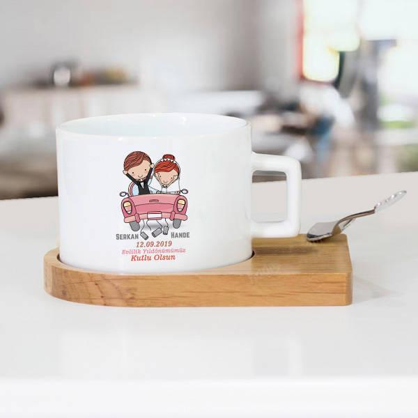 Evlendik Mutluyuz Çay Fincanı