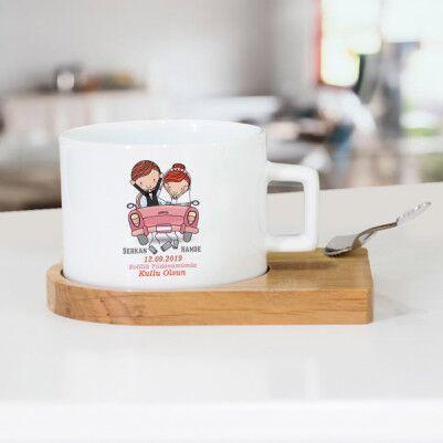 - Evlendik Mutluyuz Çay Fincanı