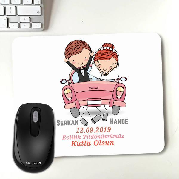 Evlendik Mutluyuz Kişiye Özel Mousepad