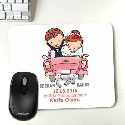 - Evlendik Mutluyuz Kişiye Özel Mousepad