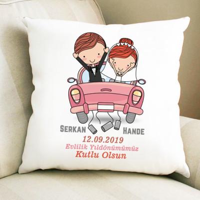 - Evlendik Mutluyuz Yastığı