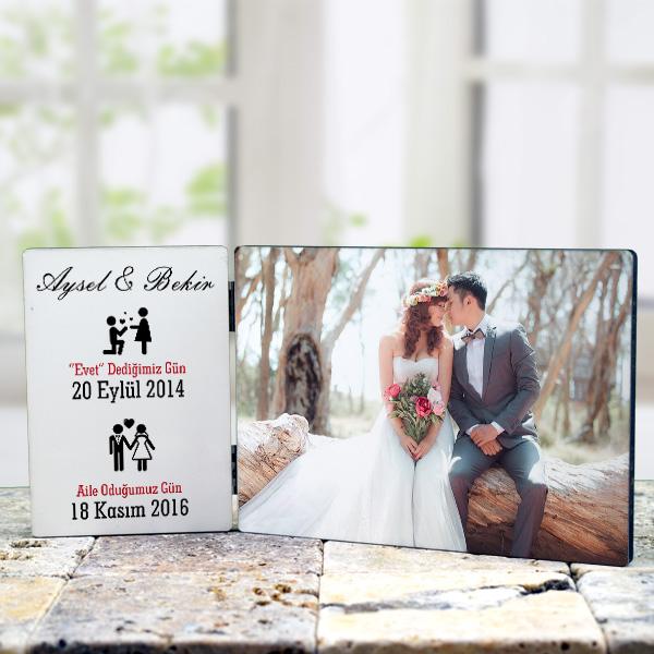 Evli Çiftlere Özel Masaüstü Dekor