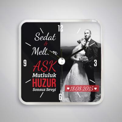 - Evli Çiftlere Özel Saatli Buzdolabı Magneti