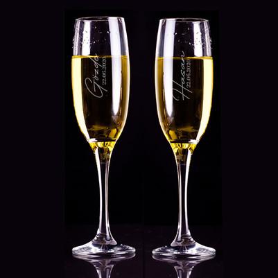 - Evlilik Yıldönümü Hediyesi 2'li Şampanya Kadehi