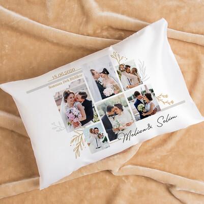 - Evlilik Yıldönümü Hediyesi Fotoğraflı Yastık