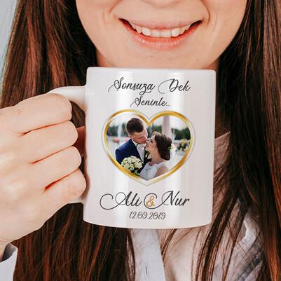 Evlilik Yıldönümü Hediyesi Kupa Bardak - Thumbnail