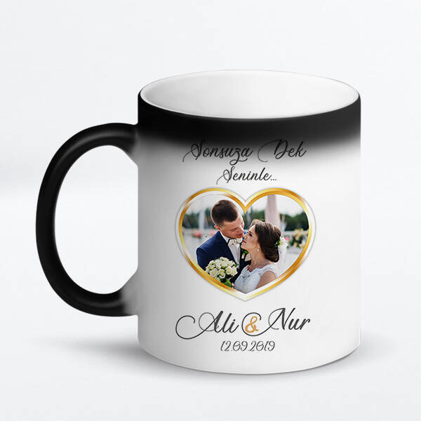 Evlilik Yıldönümü Hediyesi Kupa Bardak