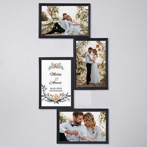 - Evlilik Yıldönümü Temalı Çoklu Resim Çerçevesi