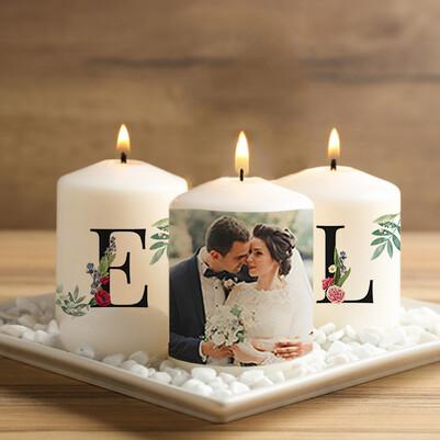 - Evlilik Yıldönümü Temalı Mum Seti