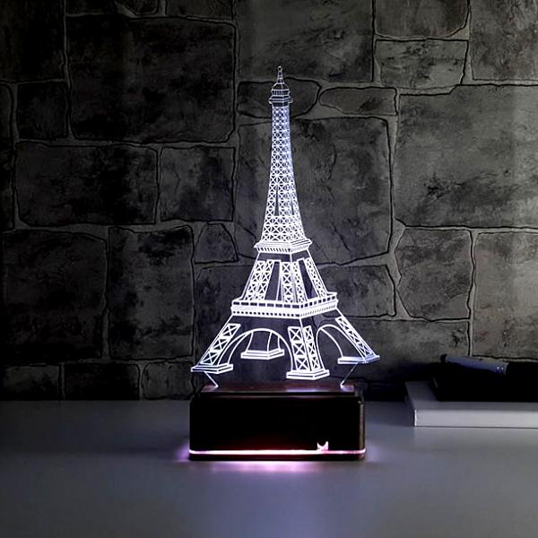 Eyfel Kulesi 3D LED Gece Lambası