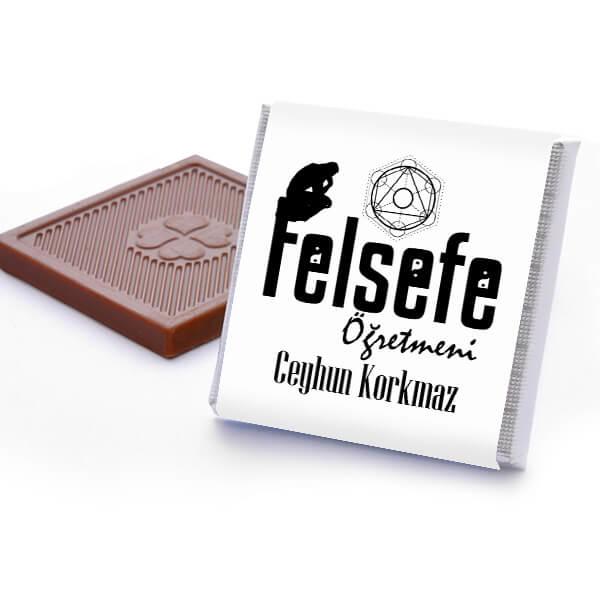 Felsefe Öğretmenine Hediye Çikolata Kutusu