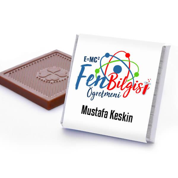 Fen Bilgisi Öğretmenine Hediye Çikolata Kutusu