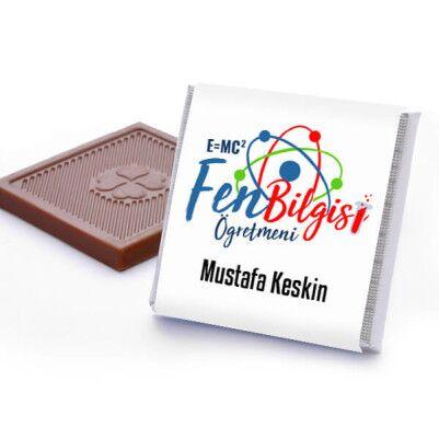 Fen Bilgisi Öğretmenine Hediye Çikolata Kutusu - Thumbnail