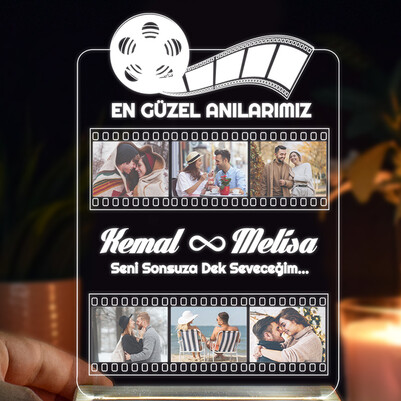 Film Şeridi Kişiye Özel 3d Led Lamba - Thumbnail