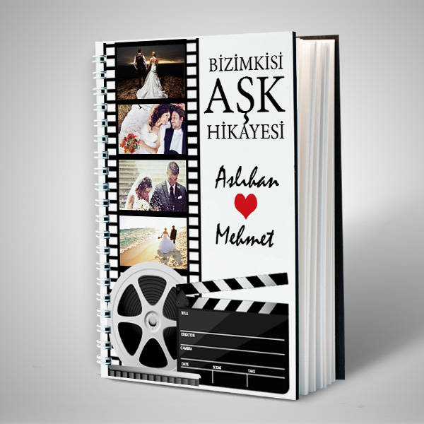 Film Şeridi Tasarımlı Sevgili Defteri