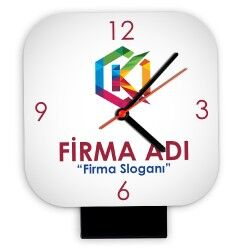 - Firmalara Özel Logo Baskılı Masa Saati