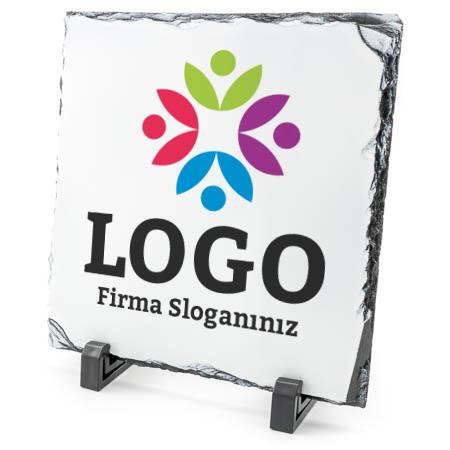 Firmalara Özel Logolu Dekoratif Taş Baskı
