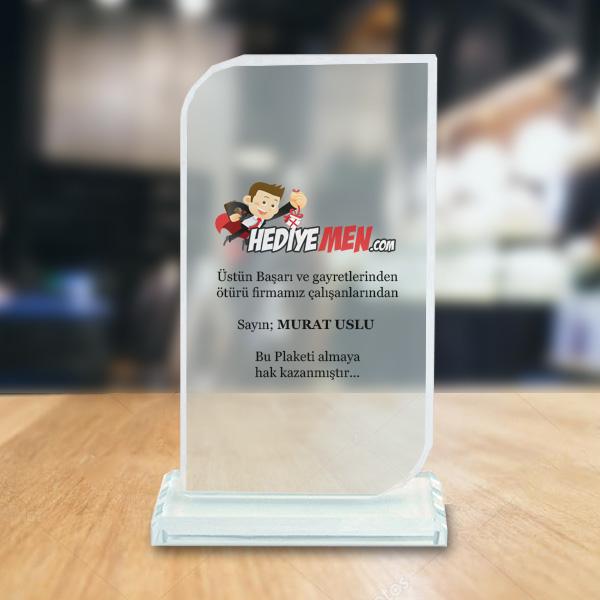 Firmalara Özel Logolu Kristal Tebrik Ödülü