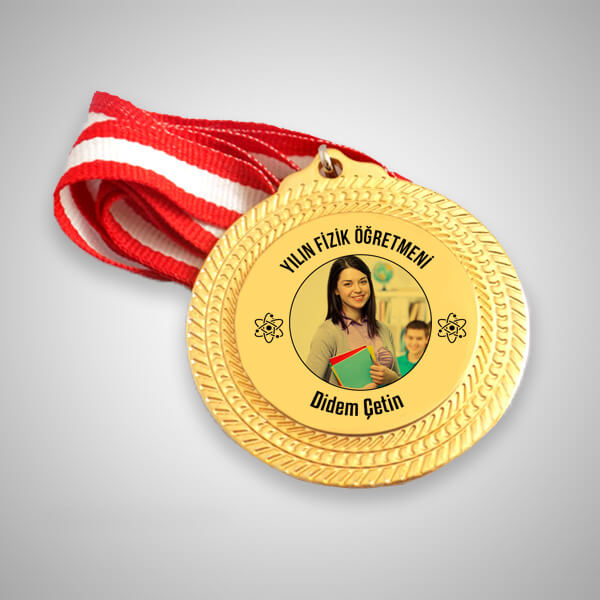 Fizik Öğretmenine Hediye Madalyon