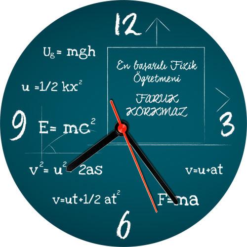 Fizik Öğretmenine Özel Duvar Saati
