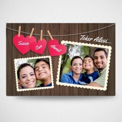 - Fotoğraf Baskılı Canım Ailem Buzdolabı Magneti