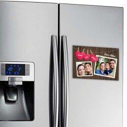 Fotoğraf Baskılı Canım Ailem Buzdolabı Magneti - Thumbnail
