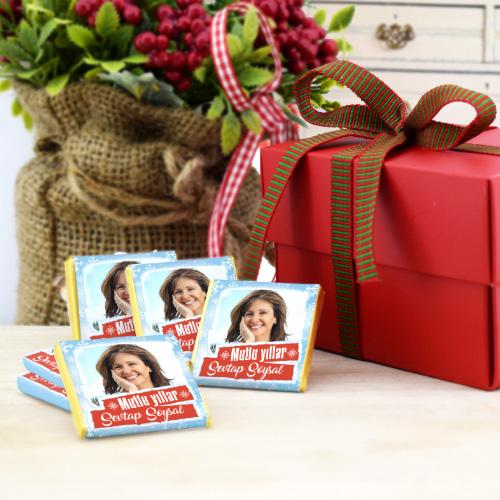 Fotoğraf Baskılı Mutlu Yıllar Çikolatası