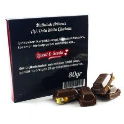 Fotoğraf Baskılı Sevgililere Özel Hediyelik Çikolata - Thumbnail