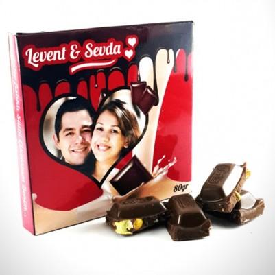 - Fotoğraf Baskılı Sevgililere Özel Hediyelik Çikolata